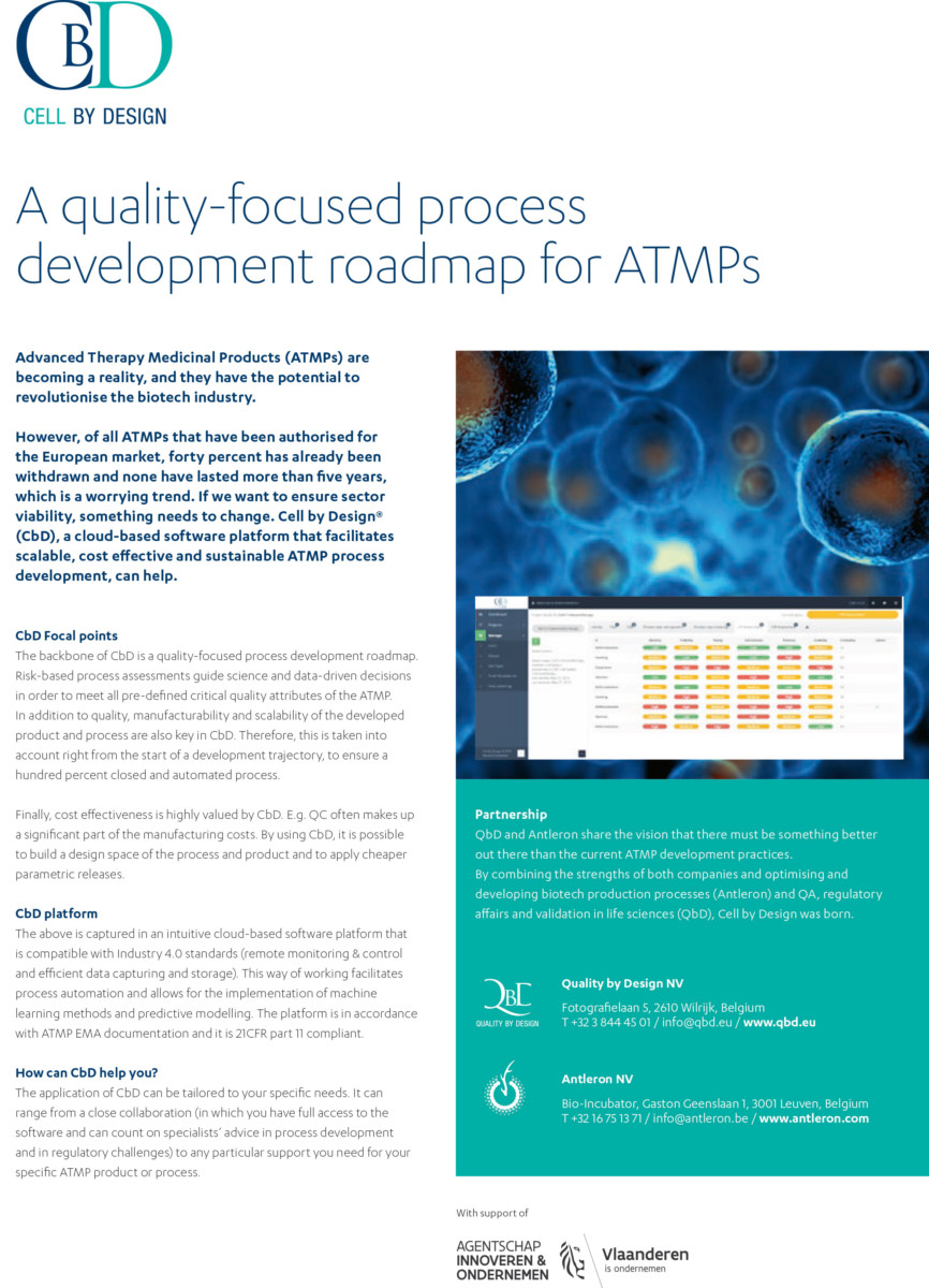 QbD flyer: A quality-focused process development roadmap for ATMPs