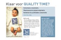 Consultants gezocht - Klaar voor quality time?