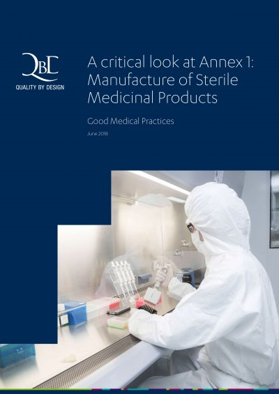 QbD whitepaper: Manufacture of Sterile Medicinal Products