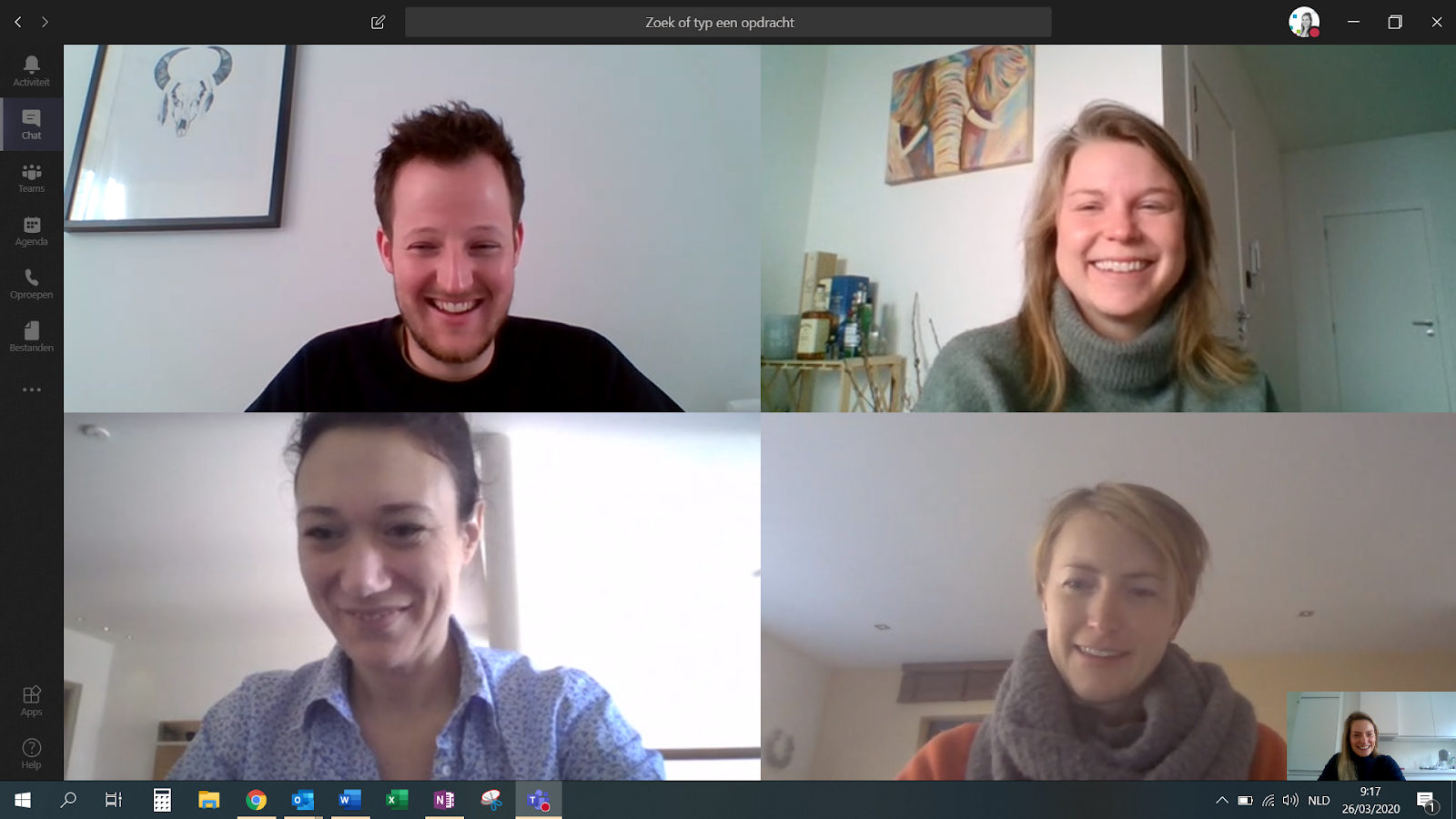 Videochat QbD recruitment team during COVID19